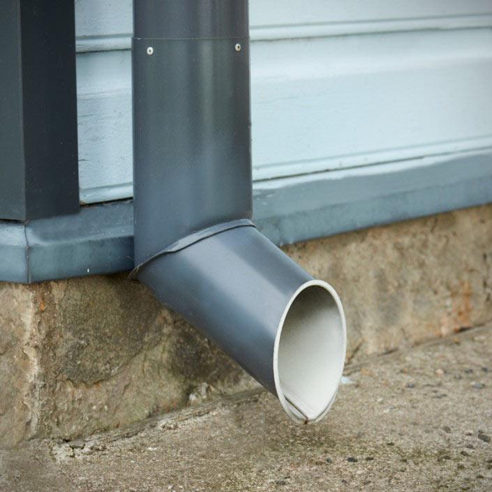 Standard-rainwater-outlet